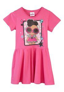 L.O.L Surprise Mädchen Kinder Kleid Sommer-Kleid Dress Kleidchen Pink, Größe:110-116