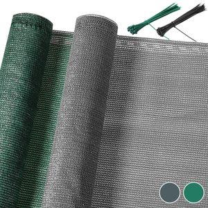 DETEX Zaunblende Schattennetz Balkonsichtschutz 10m, Farbe:Anthrazit 1,2x10m