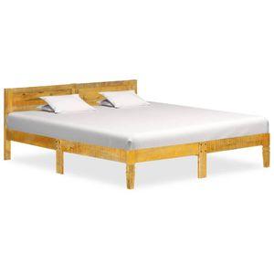 【Neu】Klassische Betten Bettgestell Mango Massivholz 160 cm BEST SELLER- Gesamtgröße:205 x 165 x 73 cm BEST SELLER-Möbel-Betten,Zubehör-Betten,Bettgestelle im Landhaus-Stil
