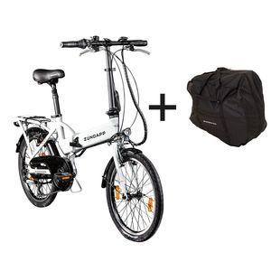 Zündapp Z101 E-Klapprad E-Bike 20 Zoll, mit Tasche, Farbe Weiß