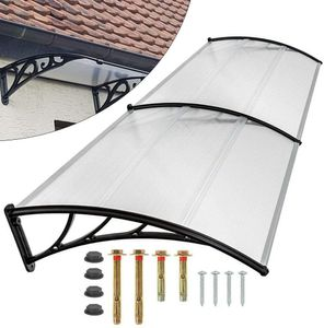 120cm Haustür Markise Transparent Vordach Überdachung Baldachin Retro Designed Garden Markise Shelter Fenster Fenster Regenschutz Abdeckung
