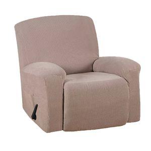 Stretch Möbelbezug Recliner Sofa Schonbezug mit elastischen Schlaufen, Recliner Farbe Beige