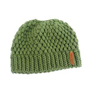 QingShop Frauen Pferdeschwanz Beanie Mütze Bun Stretch gestrickt Mütze warme Winter Green
