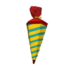 Amscan Piñata Schulkornett 62 cm Papier gelb/grün
