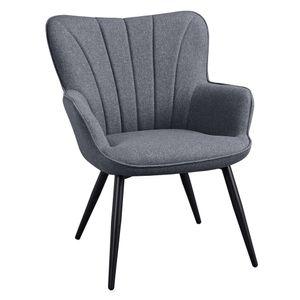 Yaheetech Sessel Relaxstuhl Gestell aus Metall / Polstersessel / Wohnzimmermöbel / Stuhl / Relaxchair / 63,5 x 68,5 x 84 cm