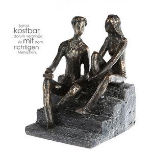 Casablanca Skulptur Discussion Poly, Paar auf Stufen Diskussion 89034