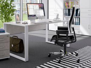 """Schreibtisch Arbeitstisch Bürotisch Arbeitsplatz Computertisch Tisch """"Hamburg II"""" Beton"""