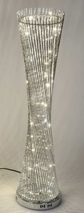 Formano Lampe silber gedreht 145 cm Metall Leuchte 60 LED Bodenlampe