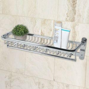 Handtuchablage Badetuchhalter Wand Duschgel Handtuchhalter Handtuchstaender Badetuchstange aus Edelstahl Ablage