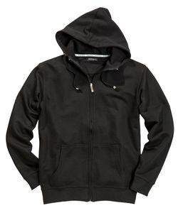 Basic Sweatjacke mit Kapuze von Redfield in schwarz, Größe:4XL