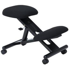 Kniehocker MALO höhenverstellbar, ergonomisch in schwarz