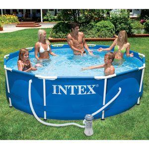 Intex Metal frame set zwembad incl. filterpomp (Ø:366cm. H:76cm)