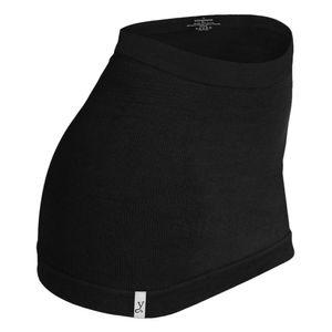 Kidneykaren Nierenwärmer Basic- Tube Wool Modal Edition Multifunktion Yogagurt aus Merino Wolle schwarz, Größe:M