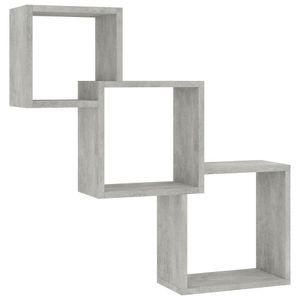vidaXL Cube Wandregale Betongrau 84,5×15×27 cm Spanplatte