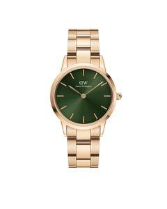 Daniel Wellington Iconic Link Emerald 32 Rosegold Green