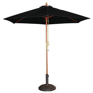 Bolero Sonnenschirm schwarz, rund Ø 2,5 m.