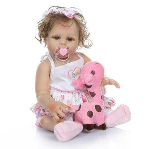 Baby Dall Mädchen Puppen für Mädchen Ganzkörper Realistische 18 Zoll für Kinder Geburtstag Geschenk Weihnachten Überraschung