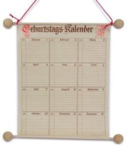 Geburtstags-Kalender, Maße (BxH): 230 x 300 mm, Menge 1