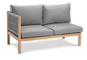 BEST Seitenteil Lounge Madagaskar 2-Sitzer links Grandis/grau, 52715067 braun