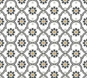 Livingwalls Vliestapete Cozz Ökotapete weiß schwarz grau 10,05 m x 0,53 m 362974 36297-4