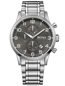 Hugo Boss Aeroliner Chronograph Uhr grau