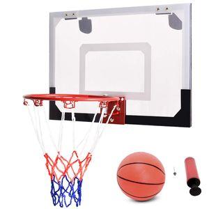 COSTWAY Basketballkorb Basketball-Set Backboard Basketball Basketballboard Basketballbrett Basketballring mit Ring und Netz fuer Buero Spiel Kinder