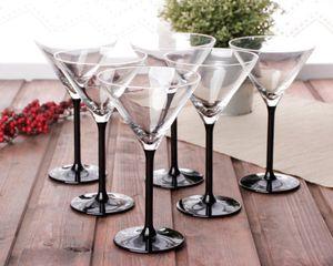 Cocktailgläser Martinigläser Cocktailschalen Martinischalen Schale Glas 6er SET