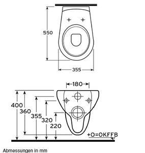 Ceravid Mrclever Wand Tiefspüler WC inkl. Sitz im Set,, Ceravid C07010000