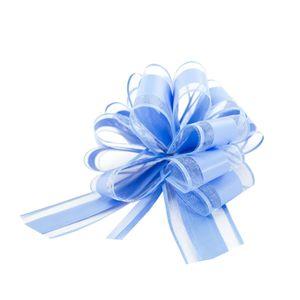 Oblique Unique Geschenkschleife Deko Schleife für Geschenke Tüten Zuckertüte Weihnachten Geschenkdeko - hellblau
