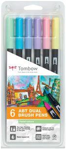 """TOMBOW Doppelfasermaler """"Dual Brush Pen ABT"""" Pastellfarben"""