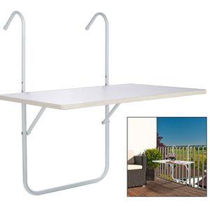 Klapptisch Tisch klappbar Weiß 60 × 40 × 1,2 cm☆4240