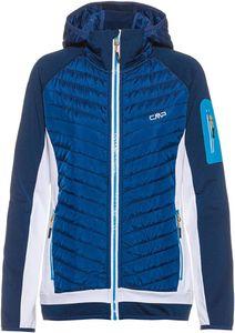 Cmp Woman Jacket Fix Hood Hybrid 35Mg Blue-Ibiza 44
