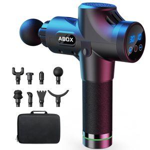 Upgrade-Version Massagepistole fur Nacken Schulter Rucken Massage Gun Massagegerat Elektrisch Entspannen mit 8 Massagekopfen