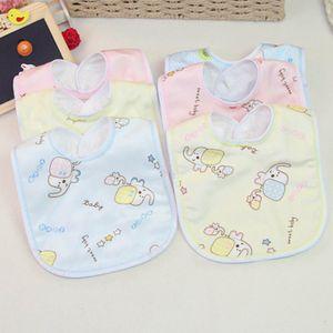 5 Stück Baby Speichel Handtuch wasserdicht und Anti-Spucke Milch Kinder Cartoon essen Lätzchen Sabberlätzchen Sabber-Tuch Spuck-Lätzchen Sabber-Latz Bandana Sabber zufällige Farbe