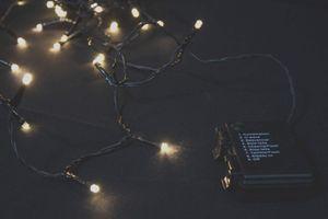 Lichterkette 24 LED für innen außen Batterie Betrieb Timer