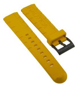 Nautica Herren Uhrenarmband 22mm Kunststoff gelb A16634G A13028GS