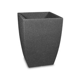 Scheurich 904-0SWGRANIT Gefäß Bologna 40, 40x40x58cm, schwarz/granit (1 Stück)