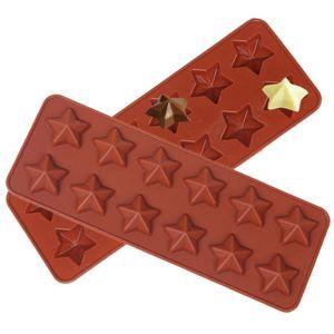 DIY Stern Silikonform Schokoladenkekse Süßigkeiten Wachs Schmelze Harz Backform