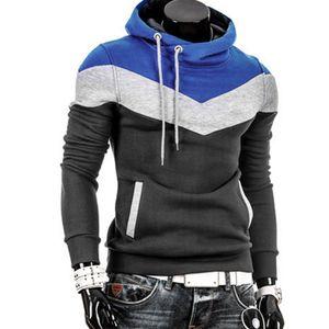 Männer Retro Langarm Hoodie Hooded Sweatshirt Tops Jacke Mantel Outwear HQL61107501 Größe:XL,Farbe:Blau