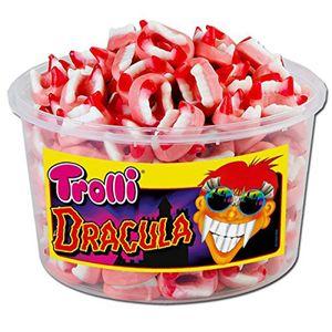 Trolli Dracula Fruchtgummi Zähne Gebiss zu Halloween Box 1050g