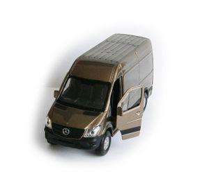 MERCEDES BENZ Sprinter Panel Van Modellauto Metall Modell Auto Spielzeugauto 88 (Champagner-Metallic)