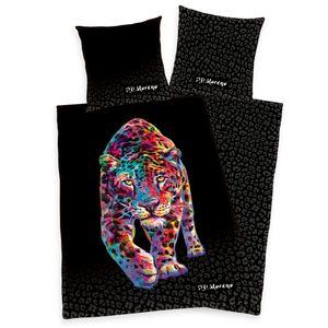 """""""P.D. Moreno - Leopard"""" Bettwäsche, 100% Baumwolle ( Satin Qualität ), 80x80 cm + 135x200 cm"""
