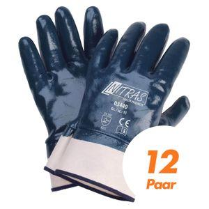NITRAS 03440 Nitrilhandschuhe Arbeitshandschuhe Handschuhe mit Stulpe - 12 Paar Größe:10
