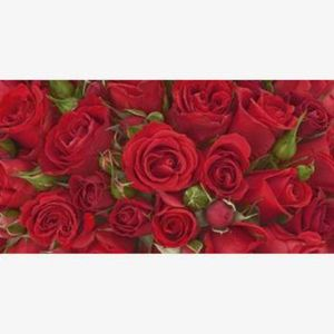 DeCoArt...Puzzlekarte Glückwunschkarte aus Puzzleteilen rote Rosen Puzzlekarte Rosen