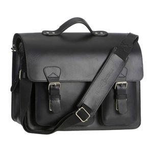 Ruitertassen Lehrertasche Leder Schultasche Aktentasche 2 Fächer schwarz 2337T-11