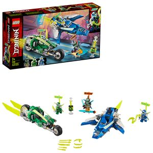 LEGO 71709 NINJAGO Jay und Lloyds Power-Flitzer mit Flugzeug- und Fahrradrennfahrern, Bauset, Prime Empire Rennfahrzeuge