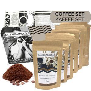 Kaffee Geschenkset Kaffee Geschenkbox 360g gemahlen Box voller Kaffeesorten aus aller Welt | 6x60g Kaffee Weltreise Geschenkidee für Frauen Männer Kaffeeliebhaber | Kaffeebox Geschenk Box