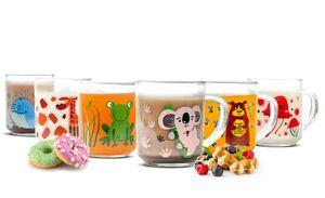 Sendez 6 Tier-Motiv Becher Tassen 230ml Teegläser Kindergläser Trinkgläser Saftgläser