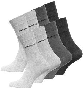 VCA® COMFORT Socken 8 Paar Grautöne 39-42
