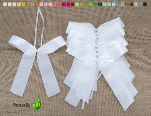 Antennenschleifen Hochzeit, 10 Stück, Farbauswahl:weiß 029